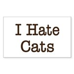 I Hate Cats Rectangle Sticker 50 pk)
