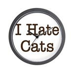 I Hate Cats Wall Clock