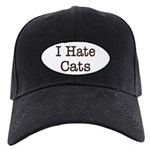 I Hate Cats Black Cap