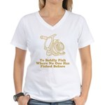 To Boldly Fish Women's V-Neck T-Shirt