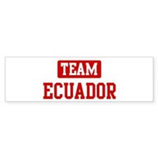 Team Ecuador Bumper Bumper Sticker