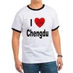 I Love Chengdu China (Front) Ringer T