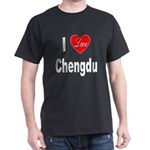 I Love Chengdu China (Front) Dark T-Shirt