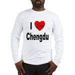 I Love Chengdu China (Front) Long Sleeve T-Shirt