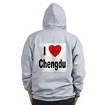 I Love Chengdu China (Back) Zip Hoodie
