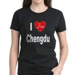 I Love Chengdu China (Front) Women's Dark T-Shirt