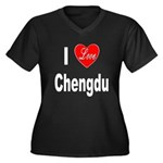 I Love Chengdu China (Front) Women's Plus Size V-N