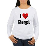 I Love Chengdu China Women's Long Sleeve T-Shirt