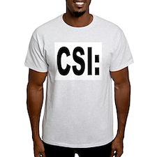 CSI Crime Scene Investigation (Front) Ash Grey T-S