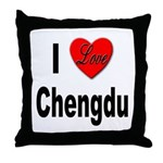 I Love Chengdu China Throw Pillow