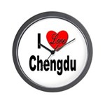 I Love Chengdu China Wall Clock