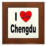 I Love Chengdu China Framed Tile