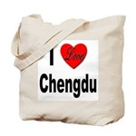 I Love Chengdu China Tote Bag