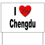 I Love Chengdu China Yard Sign