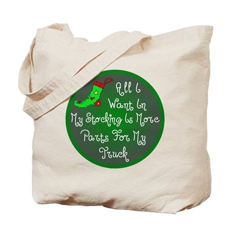 Truck Parts Christmas Tote Bag
