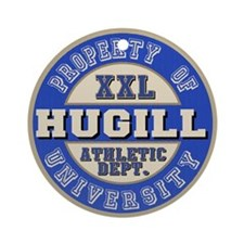 Hugill Name Athletic Dept Ornament (Round)