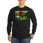 Ital Rasta Cooking Long Sleeve Dark T-Shirt