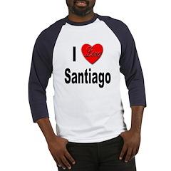 I Love Santiago Chile (Front) Baseball Jersey