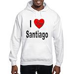 I Love Santiago Chile Hooded Sweatshirt