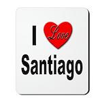 I Love Santiago Chile Mousepad