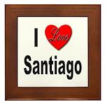 I Love Santiago Chile Framed Tile