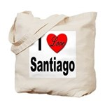 I Love Santiago Chile Tote Bag