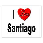 I Love Santiago Chile Small Poster