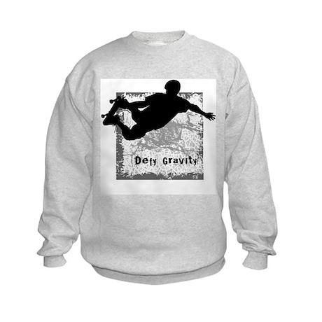Defy Gravity 4 Skateboarding Kids Sweatshirt