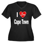 I Love Cape Town (Front) Women's Plus Size V-Neck