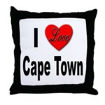 I Love Cape Town Throw Pillow