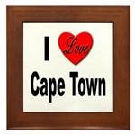 I Love Cape Town Framed Tile