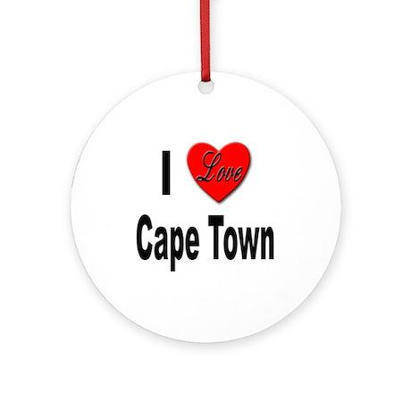 I Love Cape Town Ornament (Round)