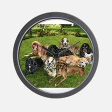 Cute Dogs christmas Wall Clock