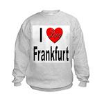I Love Frankfurt Germany (Front) Kids Sweatshirt