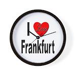 I Love Frankfurt Germany Wall Clock