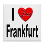 I Love Frankfurt Germany Tile Coaster