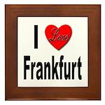 I Love Frankfurt Germany Framed Tile