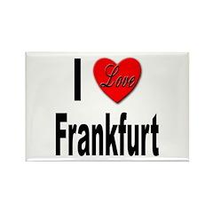 I Love Frankfurt Germany Rectangle Magnet (10 pack