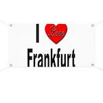 I Love Frankfurt Germany Banner