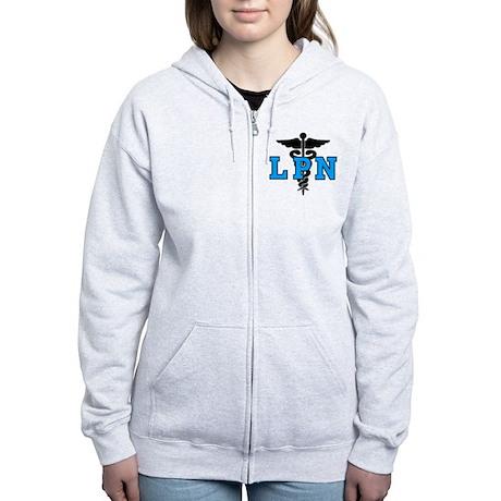 LPN Medical Symbol Women's Zip Hoodie