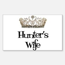 Hunter's Wife Rectangle Decal
