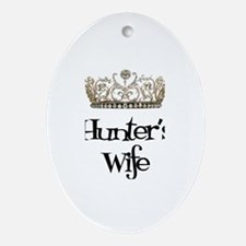 Hunter's Wife Oval Ornament