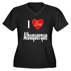 I Love Albuquerque (Front) Women's Plus Size V-Nec
