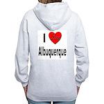 I Love Albuquerque (Back) Women's Zip Hoodie