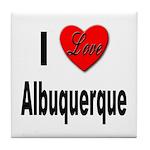 I Love Albuquerque Tile Coaster