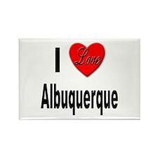 I Love Albuquerque Rectangle Magnet