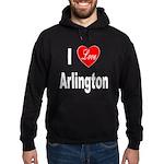 I Love Arlington (Front) Hoodie (dark)