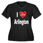 I Love Arlington (Front) Women's Plus Size V-Neck