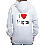 I Love Arlington (Back) Women's Zip Hoodie