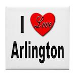 I Love Arlington Tile Coaster
